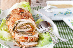 Turkey Roll With Sauce Royalty Free Stock Photos