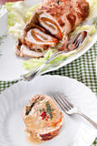 Turkey Roll At Table Stock Photography