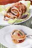Turkey Roll At Table Royalty Free Stock Photo