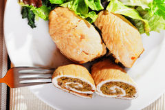 Turkey roulade Stock Image