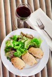 Turkey roulade Royalty Free Stock Images