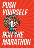Turkey Run Marathon Runner Poster Stock Images