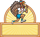 Turkey Run Runner Side Cartoon Isolated Stock Photo