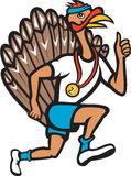 Turkey Run Runner Thumb Up Cartoon Stock Image