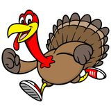 Turkey Run. A vector illustration of a Turkey Run