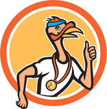Turkey Runner Thumbs Up Cartoon Royalty Free Stock Photography