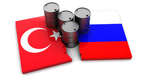 Turkey and Russia conflict Royalty Free Stock Photo