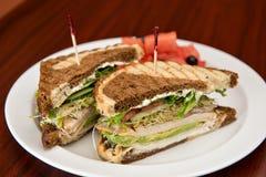 Turkey on Rye Sandwich Stock Image