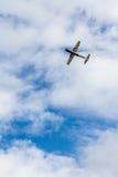 Turkey's first 100 percent Turkish made basic trainer aircraft. TURKEY, ESKİŞEHİR - 21 SEPTEMBER 2014 - Hürkuş (Freebird), Turkey's first 100 stock image