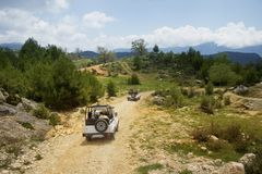 Turkey's jeep safari Stock Image