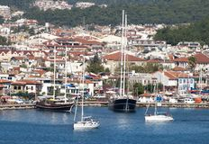 Turkey`s Marmaris Town Yachts Royalty Free Stock Image