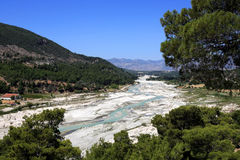 Turkey, Saklikent. River-bed configuration Royalty Free Stock Photos