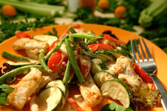 Turkey Salad Royalty Free Stock Photo