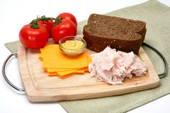 Turkey Sandwhich Ingredients Stock Image