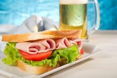 Turkey sandwich royalty free stock photography