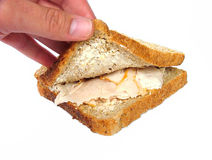 Turkey sandwich. Turkey mayo sandwich royalty free stock photography