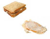Turkey sandwich. Brown bread royalty free stock photos