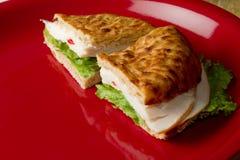 Turkey Sandwich. Delicious Turkey Sandwich in Detail Stock Images