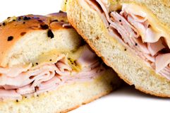 Turkey Sandwich. Close up of turkey sandwich Royalty Free Stock Images