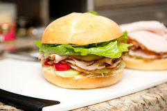 Turkey sandwich Royalty Free Stock Photos