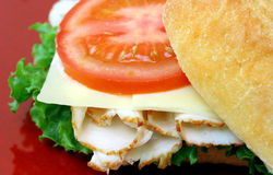 Turkey Sandwich Royalty Free Stock Images