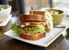 Turkey Sandwich with Bacon and Cheese Stock Photography