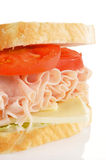 Turkey sandwich closeup Stock Images
