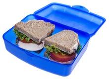 Turkey Sandwich isolated on white Royalty Free Stock Photo