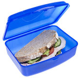 Turkey Sandwich isolated on white Royalty Free Stock Photography