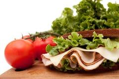 Turkey sandwich on rye bread Stock Photography