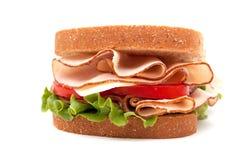 Turkey sandwich on wheat bread Stock Photography