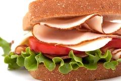Turkey sandwich on wheat bread Stock Images