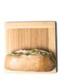 Turkey Sandwich on a White Background Royalty Free Stock Photo