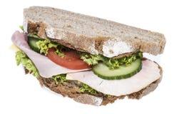 Turkey Sandwich on white Royalty Free Stock Photos