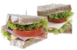 Turkey Sandwich on white Stock Photo