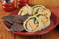 Turkey sandwich wrap Royalty Free Stock Photos
