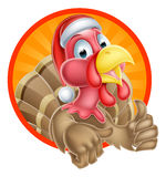 Turkey Santa Cartoon Royalty Free Stock Image