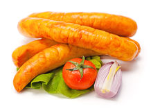 Turkey sausage Royalty Free Stock Images