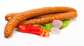 Turkey sausage Royalty Free Stock Images