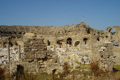 Turkey Sede. Turkey, city Sede. History monument. Ancient theatre Royalty Free Stock Photography
