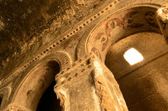 Turkey: Selime Cathedral (Rock Church) Frescoes Royalty Free Stock Photography