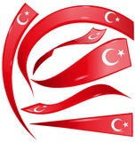 Turkey set  flag Stock Images