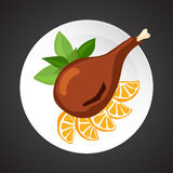 Turkey shin illustration Stock Image