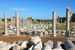 Turkey. Side. Antique ruins Royalty Free Stock Photos
