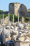 Turkey. Side. Antique ruins Royalty Free Stock Photo
