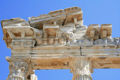 Turkey. Side. Ruins of a temple of Apollo Royalty Free Stock Photography