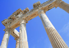 Turkey. Side. Ruins of a temple of Apollo. Royalty Free Stock Photography