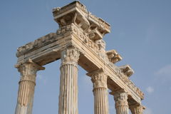 Turkey. Side. Ruins of a temple of Apollo Stock Images