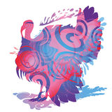 Turkey and silhouette stock illustration