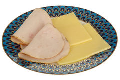 Turkey Slices with Cheese Healthy Meal Stock Photography